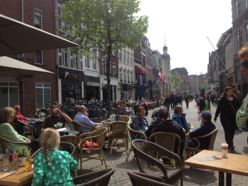 Busy Venlo pedestrian area