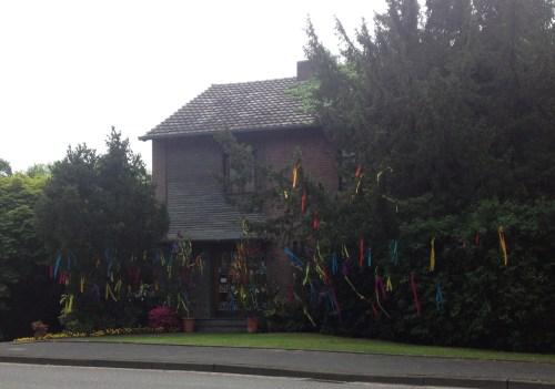 Decorated tree in Herongen