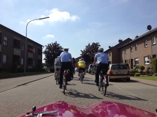 Trundling along the back streets in Grefrath