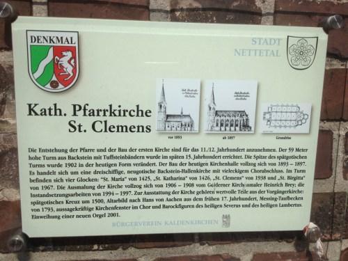St Clemens plaque