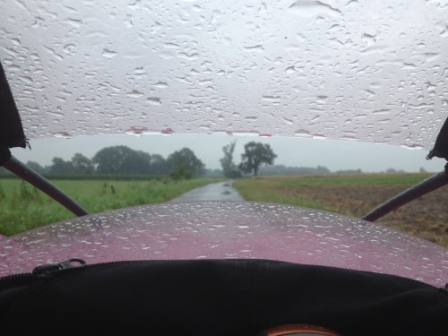 Rainy ride on Penelope