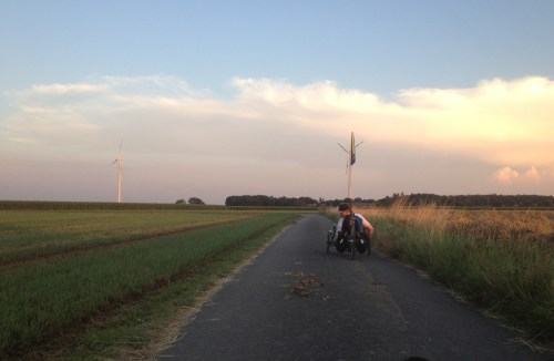 Wide flat Niederrhein with trike