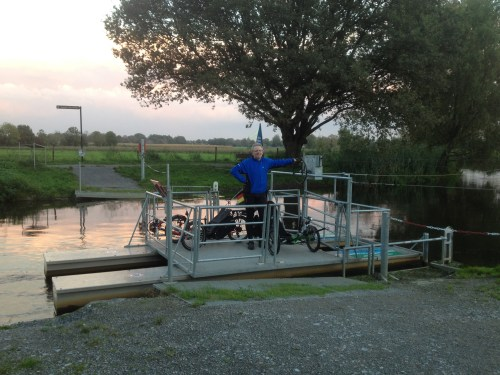 Self-service ferry with trikes