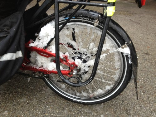 Snowy trike rear wheel