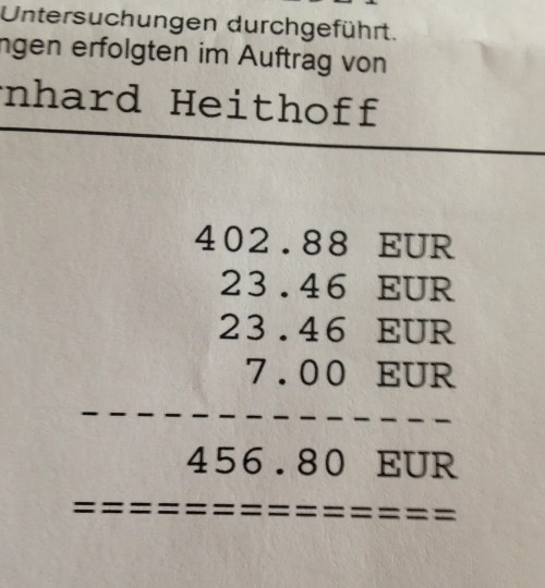 Impressive blood test bill