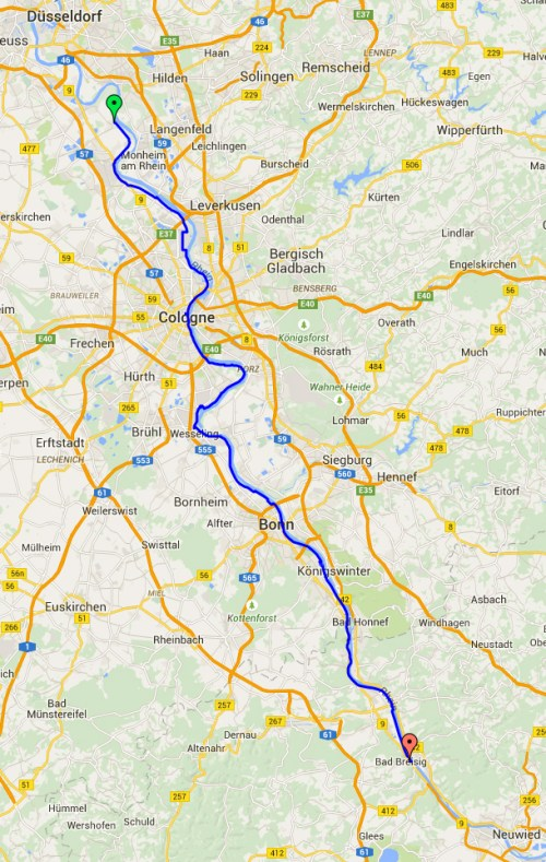 Zons to Bad Breisig map