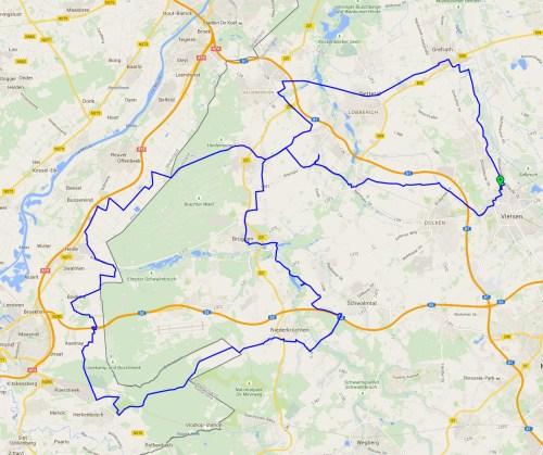Oliver trip map