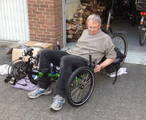 Sitting on new wheels
