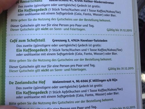 Cafe Schafstall Gutschein