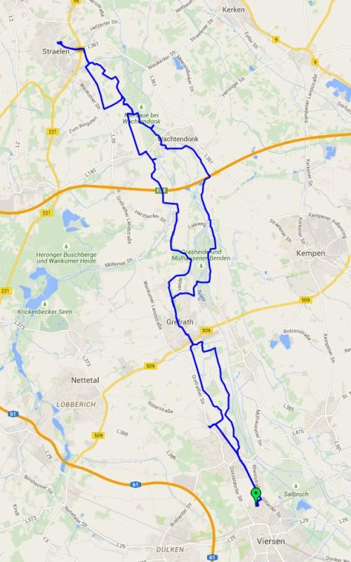 Straelen map