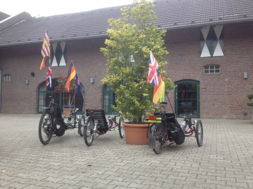 Three trikes at Streithoefe