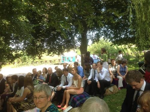 Awaiting ceremony
