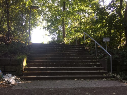 Cycle path stairs