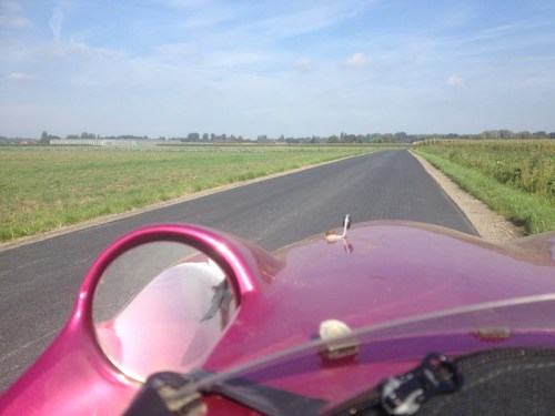 Newly resurfaced road