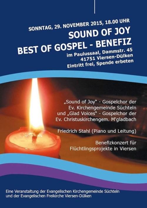 Sound of Joy concert poster