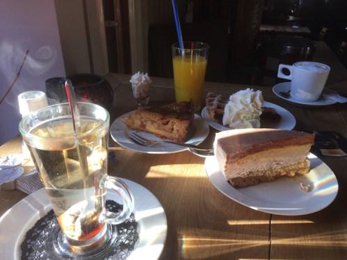 Breakfast of cake