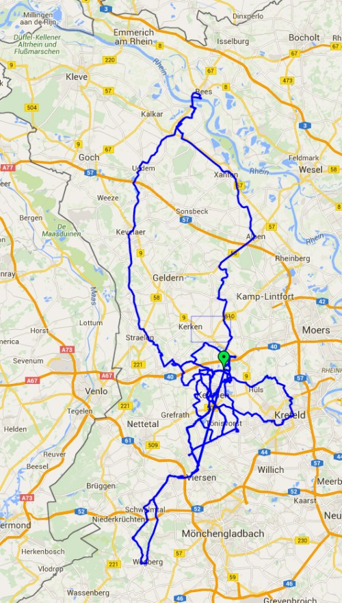 GPX of February rides