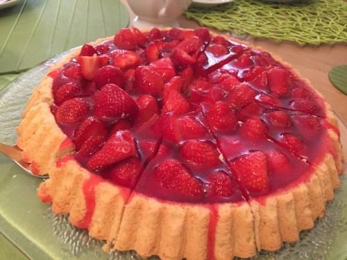 Lara's birthday strawberry