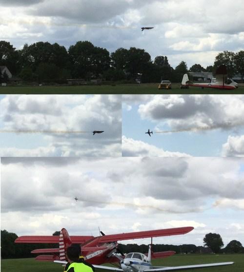 Model Hawk flying