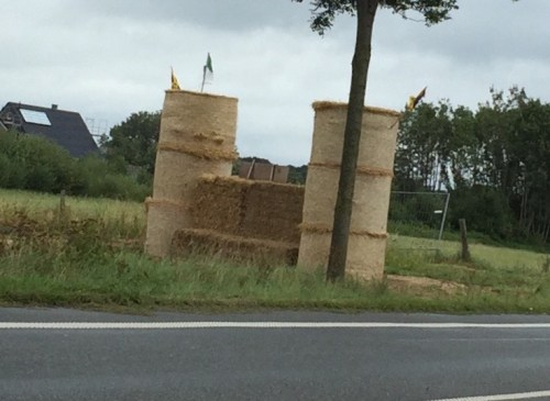 Castle of straw bales