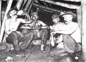le briquet à la mine