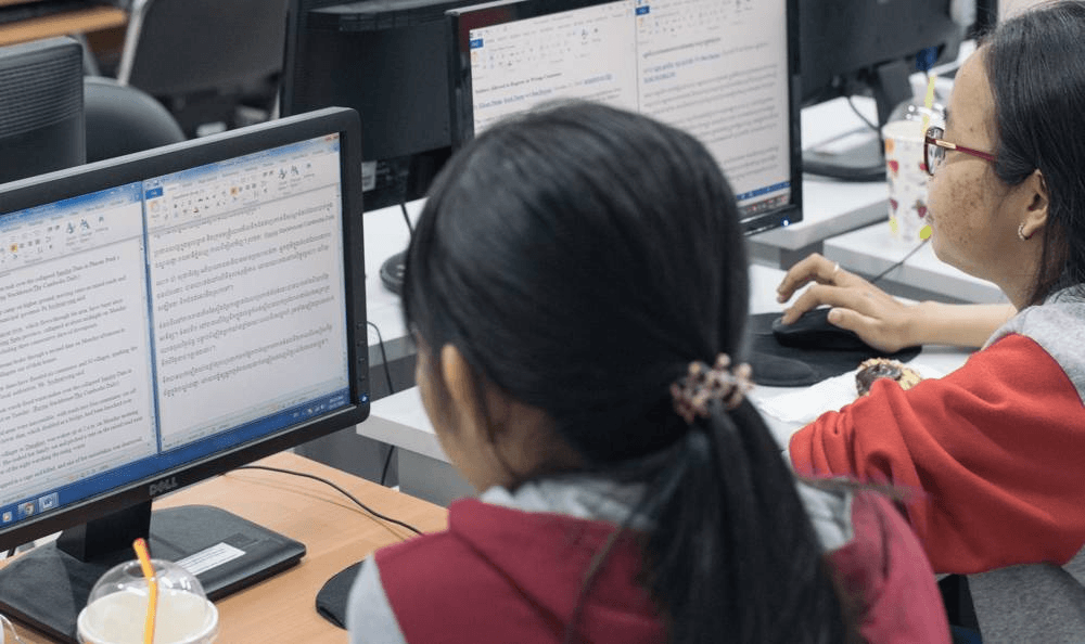 AUPP Students Put In Hours for Microsoft's Translator Hub Khmer