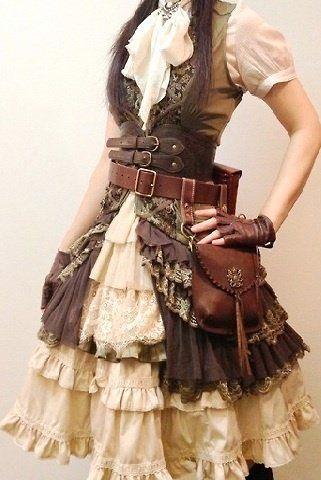 La mode steampunk - dentelle et rouage