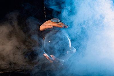 Boule de cristal - style occulte - Aura Noire