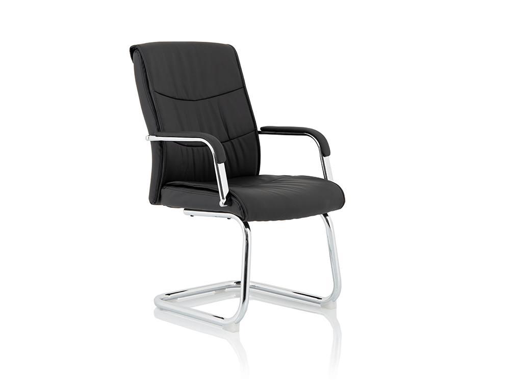 Nova – Faux Leather Cantilever Chair with Arms -
