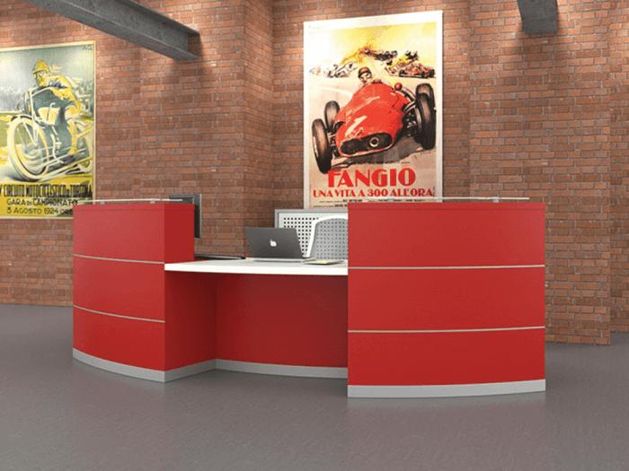 Aesop 2 – Chilli Red Reception Desk