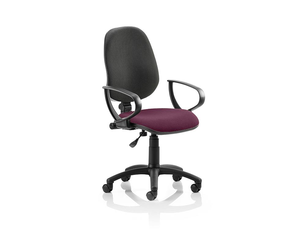 Esme 1 – Loop Arm Task Operator Office Chair in Multicolour -