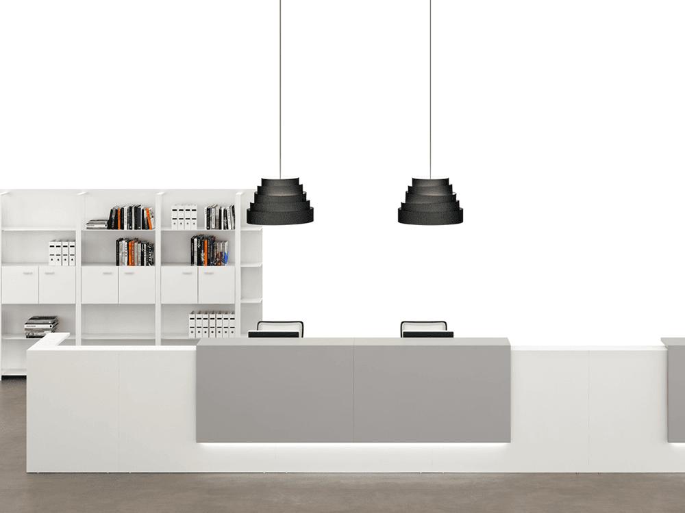 Mia 2 – Large Modular Reception Desk in White