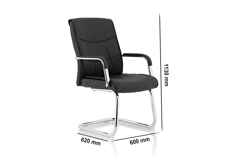 Nova – Faux Leather Cantilever Chair with Arms