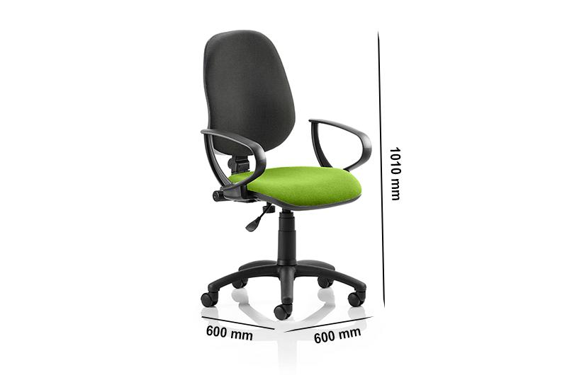 Esme 1 – Loop Arm Task Operator Office Chair in Multicolour