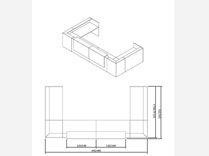 Boone – U-Shaped Modular Reception Desk in Wengè