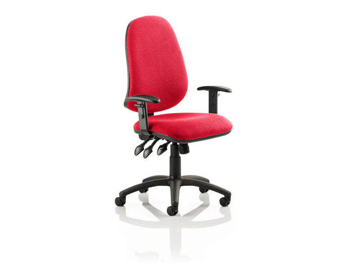 Esme XL 3 - High Back Fabric Operator Office Chair with Adjustable Arms