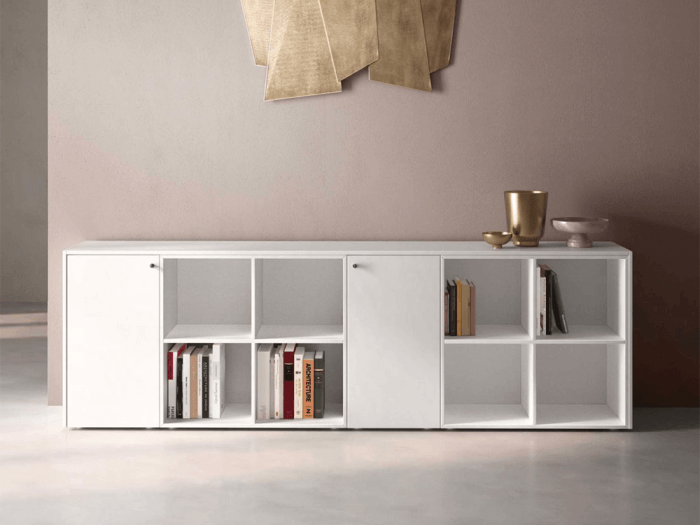 Dion – K-Leg Wooden Sideboard with Modular Units