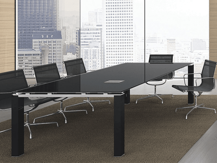 Gem - Glass Top Conference Table with Glass Legs