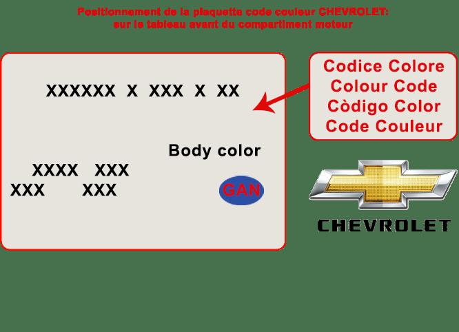 Vente De Peinture Pour Carrosserie Auto Chevrolet