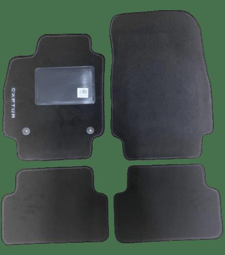 kit 4 tapis de sol auto pour renault captur de 2013 a 2019 avec sigle captur avec clips neuf