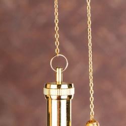 Mermet Pendel, vergoldet