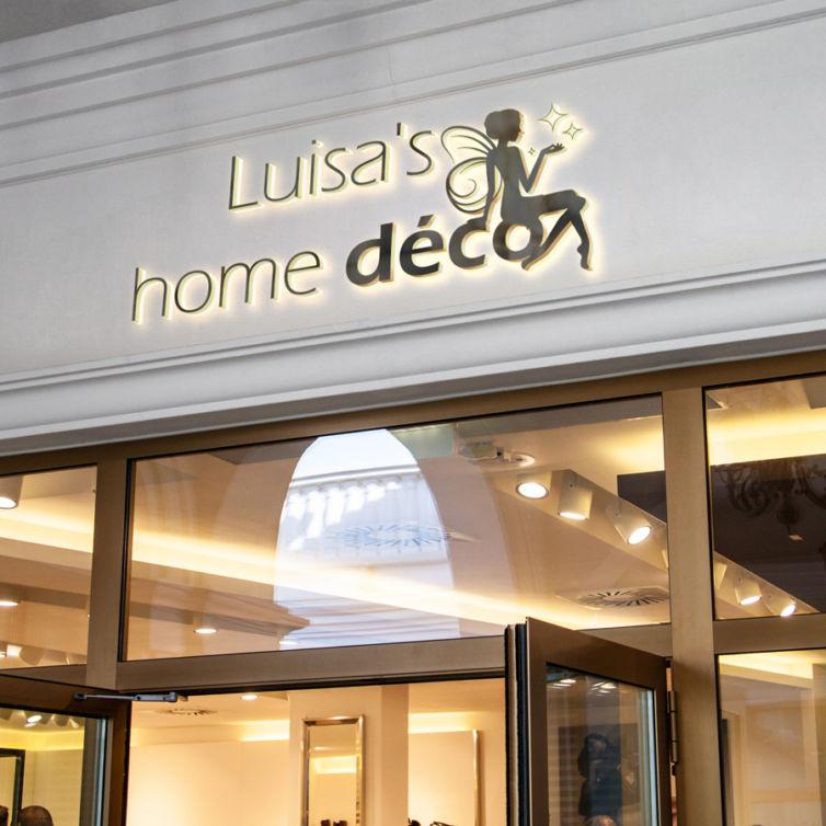 création de logo personnalisé   Luisa's home déco