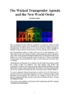 The Wicked Transgender Agenda