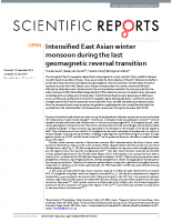 Intensified East Asian winter monsoon during the last geomagnetic reversal transition