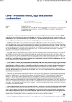 Covid-19 vaccines ethical legal and practical considerations