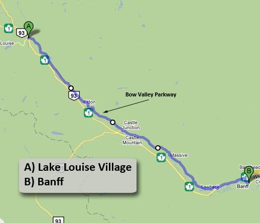 Giro 1 a Lake Louise