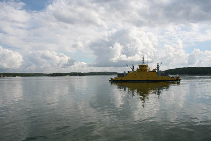 Uno dei traghetti dell'Archipelago Trail