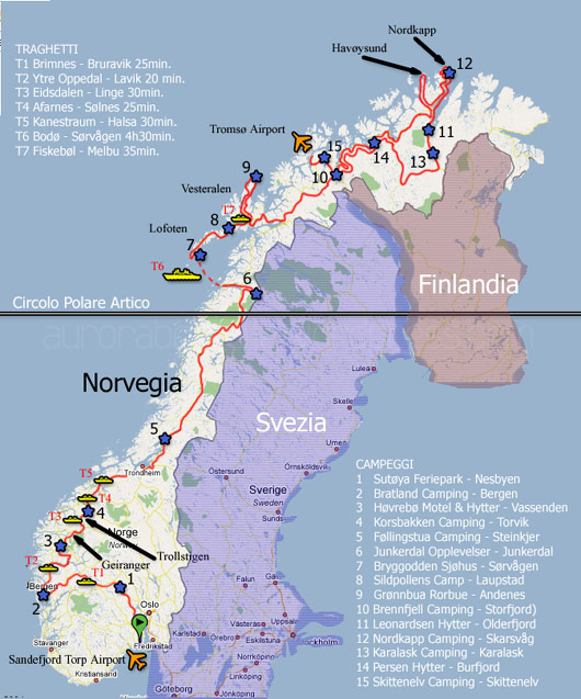 Il nostro viaggio attraverso la Norvegia