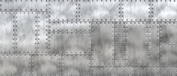 Riveted Metal 3 Aurora Graphics