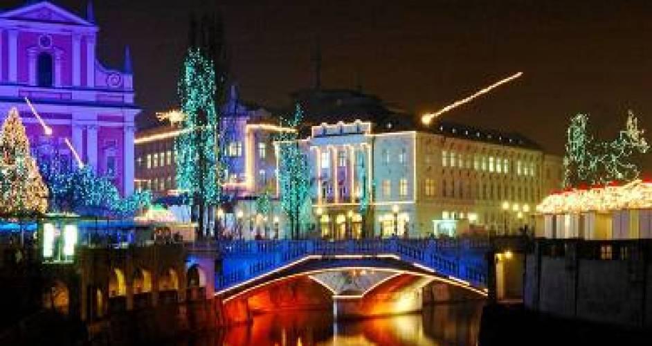 Christmas market Ljubljana Slovenia